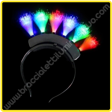 Diadema Luminoso Led Punk (1 pz)