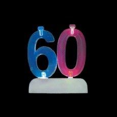 4 Velas con 60 Intermitente