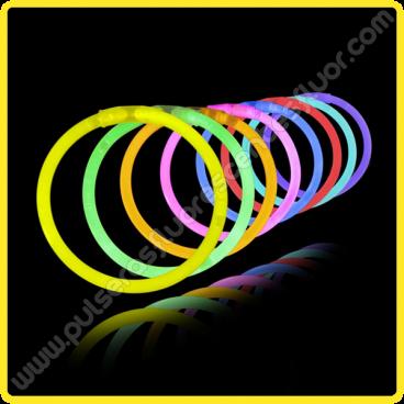 Braccialetti Luminosi Monocolore (100 pz)