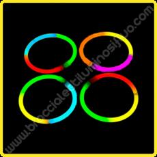 Braccialetti Luminosi Tricolore (100 pz)