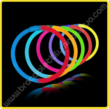 Braccialetti Luminosi Bicolore (100 pz)