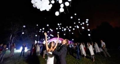 Decorazioni Luminose Per Interni : Palloncini luminosi per un matrimonio da favola